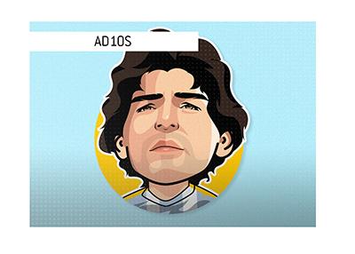 AD10S Diego Armando Maradona - RIP - Illustration.