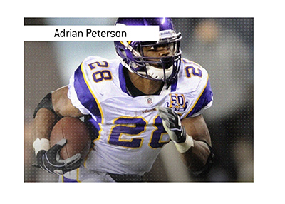 Adrian Peterson of the Vikings holds the record for most rushing yards in a single game.