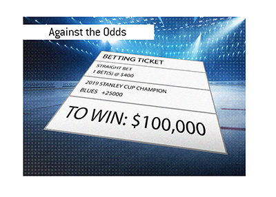 St. Louis Blues - Against the odds - Winning ticket - Illustration.
