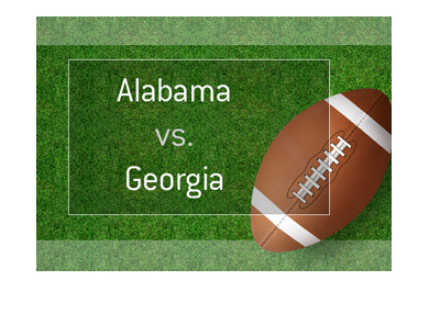 Football matchup - Alabama vs. Georgia - Odds and preview.