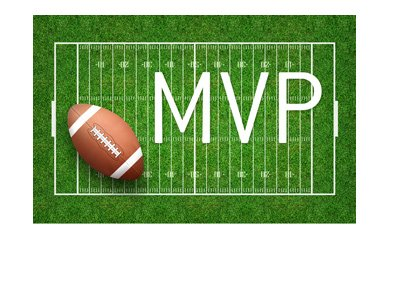 NFL - American Football MVP - Odds - Favourite to win.  Field and ball.