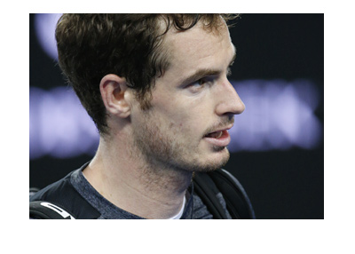 Tennis current #1, Andy Murray, Looking into the distance.