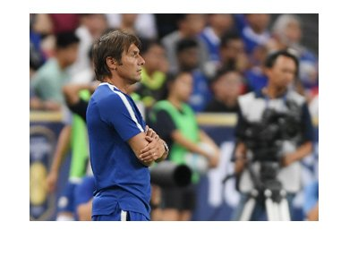 Chelsea FC manager, Antonio Conte, is looking ahead.  The season is 2017/18.