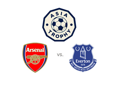 Premier League - Asia Trophy 2015 - Arsenal FC vs. Everton FC - Tournament and team logos / badges
