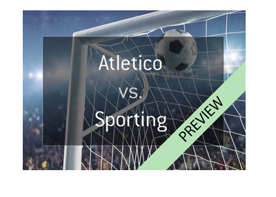 UEFA Europa League 2017/18 quarter-final preview - Atletico Madrid vs. Sporting Lisbon - Goal in the net graphic.