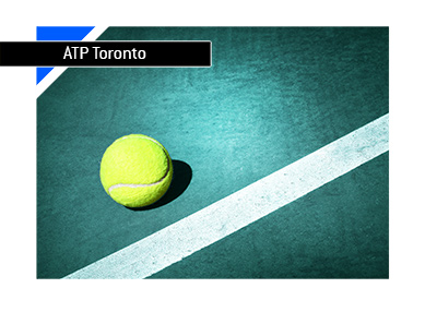 The blue court of Rogers Cup in Toronto - ATP Tennis - North America - Year is 2018 - Bet on it!