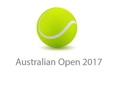Australian Open - Year 2017 - concept logo - Tennis tournament.