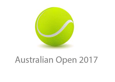 Australian Open - Year 2017 - concept logo - Tennis tournament.