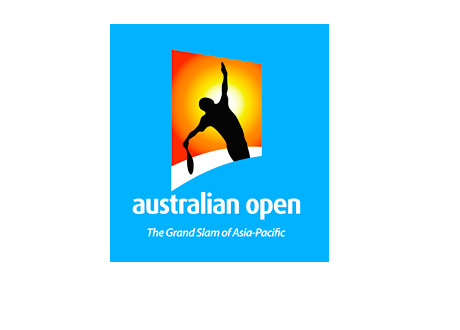 The Australian Open - Tennis Tournament - Logo - Blue Background