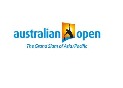 Australian Open Tennis Tournament logo - 400 pixels wide - White background