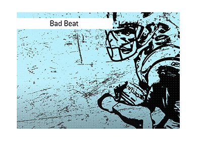 American football player - Illustration.  Sometimes the game changes on a dime.