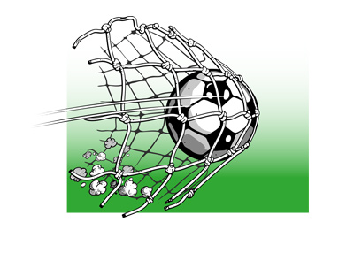 The Ball is in the net - Cartoon - Goal - Euro football - Champions League.