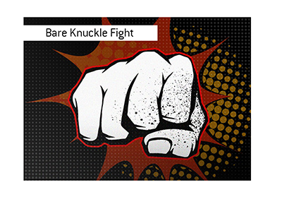 Bare knuckle fighting - Illustration.