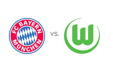 Bayern Munich vs. Wolfsburg - Bundesliga Matchup - Team Logos / Crests