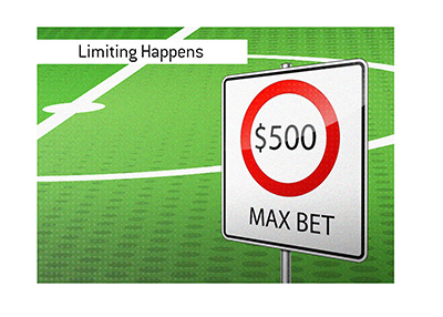 The sportsbook reserves the right to limit a player bet amount.  Illustration.