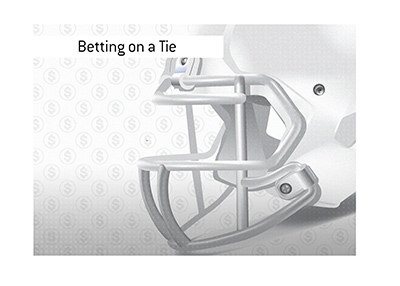 Is betting on a tie game in American football a good idea?