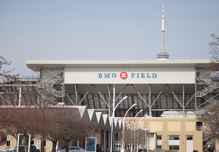 The BMO Field - The home of Toronto FC.  Entrance gate view.