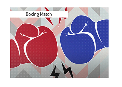 There is a big boxing match in the making between a legend and an up-and-comer.