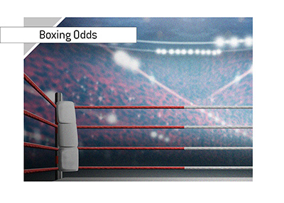 The latest betting odds from the world of boxing.  Pictured is the ring with the focus on the ropes.