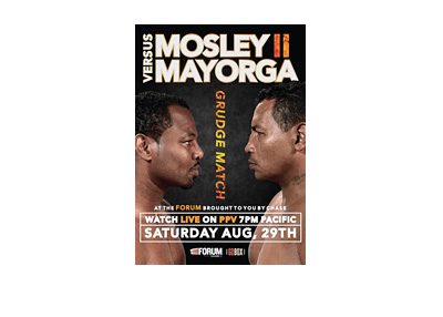 Mosley vs. Mayorga - Boxing match - Event poster - Year 2015 - August