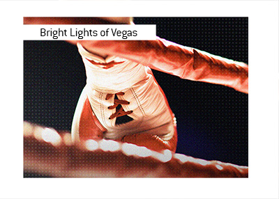 Heavyweights are at it in front of the Vegas bright lights.  High profile boxing match.