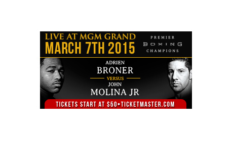 Adrien Broner vs. John Molina - March 7th, 2015, MGM Grand Las Vegas - Fight Poster