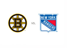Boston Bruins vs. New York Rangers - Matchup and Team Logos