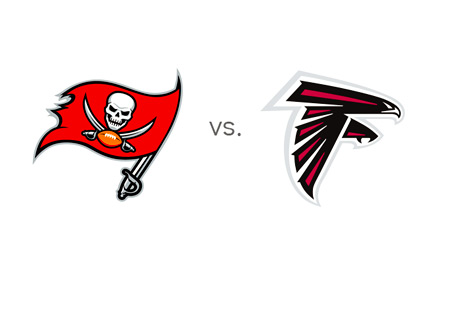 Tampa Bay Buccaneers vs. Atlanta Falcons - NFL Matchup - Team Logos - Game Preview