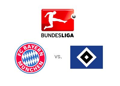 Bayern Munich vs. Hamburger SV - Bundesliga matchup - Odds - Team logos