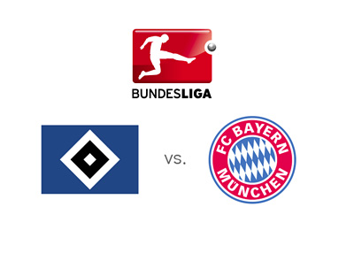 German Bundesliga match - Hamburger SV vs. Bayern Munich