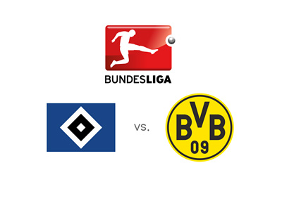 Hamburg vs. Borussia Dortmund - German Bundesliga matchup - Preview, odds and logos