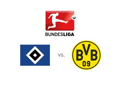 Hamburg vs. Borussia Dortmund - German Bundesliga matchup - Preview, odds and logos