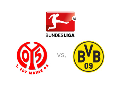 Bundesliga matchup - Mainz vs. Borussia Dortmund - Preview, logos and odds