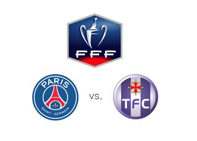 Coupe de France match between Paris Saint-Germain and Toulouse