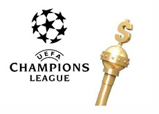 Kings dollar stick next to the UEFA Champions League logo