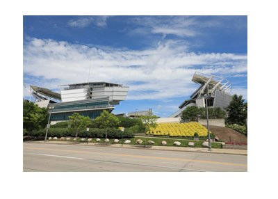 Cincinnati Bengals grounds - Paul Brown Stadium - View from the side - The year is 2017.
