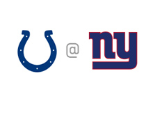 Indianapolis Colts vs. New York Giants - Team Logos / Matchup / Faceoff