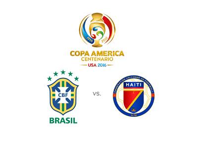 Brasil vs. Haiti - 2016 Copa America tournament - Matchup and odds