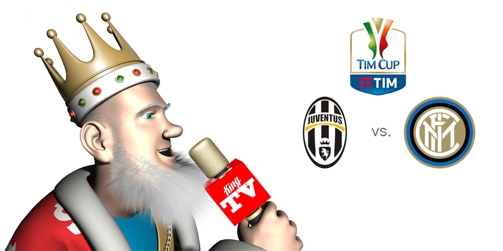 The King is presenting the upcoming Coppa Italia matchup between Juventus and Inter Milan.  It is a semi-final, first leg