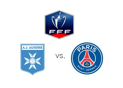 THe 2015 Coupe de France - Auxerre vs. Paris Saint-Germain (PSG) - Matchup, Odds and Team Logos