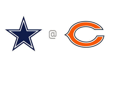 Dallas Cowboys vs. Chicago Bears - Matchup / Odds / Team Logos