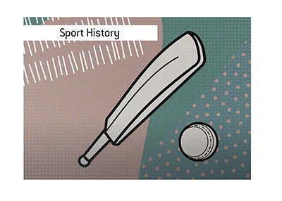 The history of the cricket game - Illustration.