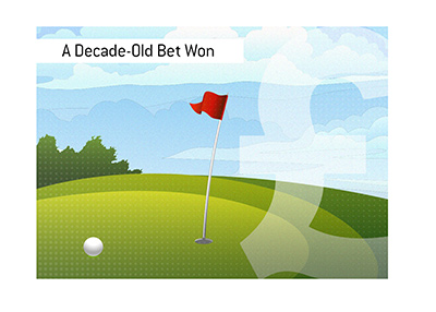 How a 10-year-old-bet was won by a father of famous golfer.