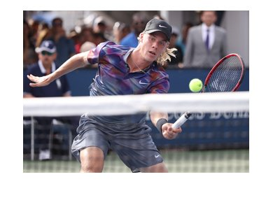 US Open 2017 star - Danis Shapovalov - Action shot.