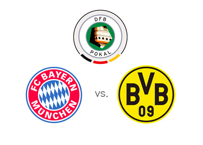 DFB Pokal - German Cup - Bayern Munich vs. Borussia Dortmund - Tournament logo and team crests - Matchup, Odds and Game Preview