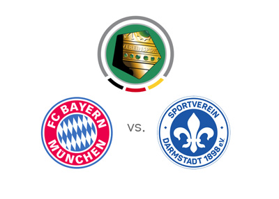 German Cup / DFB Pokal - Matchup - Bayern Munich vs. Darmstadt 98 - Odds, preview and logos