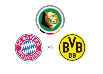 DFB Pokal - German Cup - Bayern Munich vs. Borussia Dortmund - 2015/16 season final - Matchup, odds, tournament logo and team crests