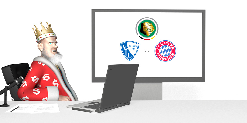 The Sports King presents the DFB Pokal match between Bochum and Bayern.  Preview and Odds