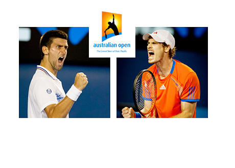 Novak Djokovic vs. Andy Murray - Australian Open - 2015 - Photos and Logo