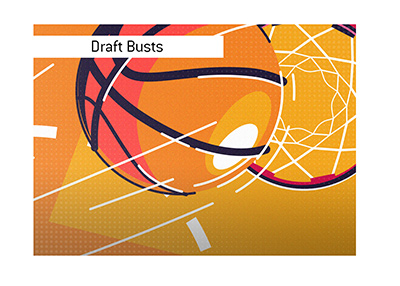 The biggest draft busts in North American pro basketball.
